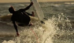 Cabo Polonio, surfing with sealions